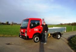 Frei Bauunternehmung Winterthur_Lieferwagen Renault Maxity